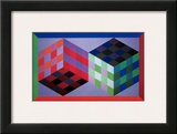 Homage of the Hexagon V Print by Victor Vasarely