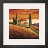 Sunset Over Tuscany II Posters by Santo De Vita