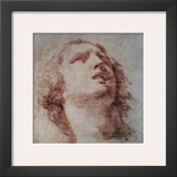 Study of a Head Looking Up Print by Pietro Berrettini