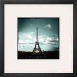 Blue Eiffel Posters by Anne Valverde