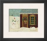 House with Snowman Posters by Warren Kimble