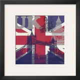 UK London Posters by Evangeline Taylor