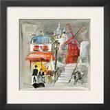 Paris Moulin Rouge Prints by  Lizie