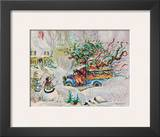 Santa's Dumptruck Prints by Peggy Abrams