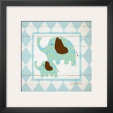 Elephants Prints by Sylvia Murray