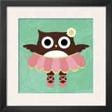 Ballerina Owl Posters by Nancy Lee