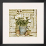 Potted Tulips II Poster by Eric Barjot