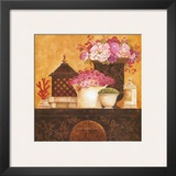Still Life, Flowers on Antique Chest I Prints by Eric Barjot