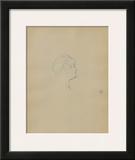 Dessins : Tête de femme de profil Posters by Henri de Toulouse-Lautrec