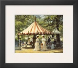 Summer Carousel Poster by Alan Maley