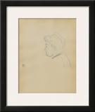 Dessins : Tête de femme de profil à gauche Posters by Henri de Toulouse-Lautrec