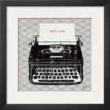Vintage Analog Typewriter Art by Michael Mullan