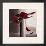 En Rouge et Gris II Prints by Olivier Tramoni