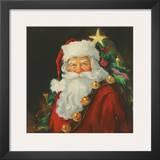 Sparkling Santa Posters by Susan Comish