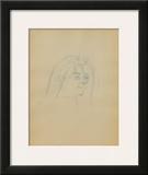 Dessins : Tête de femme de trois-quart Art by Henri de Toulouse-Lautrec