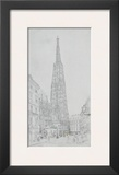 Cathedral St Stephan in Vienna Posters by Rudolph von Alt
