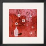 Asia Cherry Tree Art by Helene Druvert