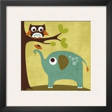 Owl and Elephant Prints by Nancy Lee