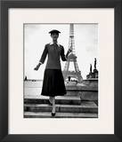 Paris Fashion Print by Jean Alexis Rouchon