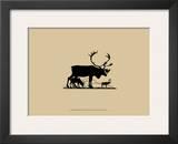 Elk Silhouette I Poster