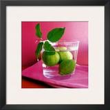 Citrons Verts Print by Amelie Vuillon