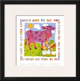 Purple Cow Print by Cheryl Piperberg