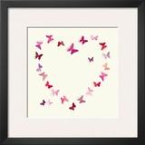 Butterfly Heart II Prints by Sasha Blake