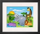 African Animals I Poster by Klara Viskova