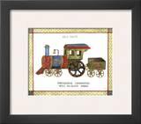 Mechanical Locomotive Prints by Isabelle De Bercy
