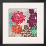 Peony Patterns I Posters by Tandi Venter