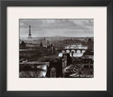 The River Seine and the City of Paris, c.1991 Poster by Peter Turnley