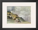 Landscape in the Mountains Prints by Friedrich Gauermann