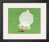 Little Lamb and Ladybug Print by Coby Hol