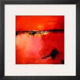 Orange Horizon Framed Art PrintPeter Wileman