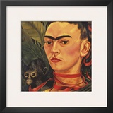 Self Portrait with a Monkey, c.1940 (detail) Prints by Frida Kahlo