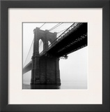 Brooklyn Bridge Fog Prints by Henri Silberman