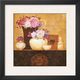 Still Life, Flowers on Antique Chest II Print by Eric Barjot