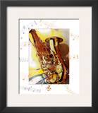 Saxophone Print by A.. Cromwell