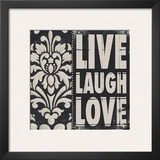 Live Laugh Love Print by Stephanie Marrott