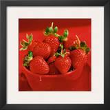 Strawberries Prints by Alena Hrbkova