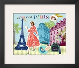Paris Poster by Emillie Capman