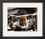 Little Boy with Bike, China Prints by Philippe Body