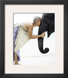 Nose to Nose, Thailand Prints by David Trood