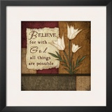 Believe Print by Jennifer Pugh