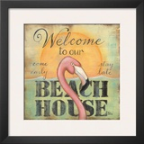 Welcome To Our Beach House Art by Kim Lewis