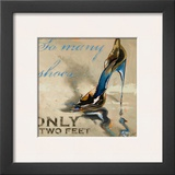 So Many Shoes Print by Lorraine Vail
