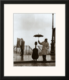 Musician in the Rain Posters by Robert Doisneau