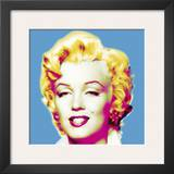 Marilyn in Blue Print by Wyndham Boulter