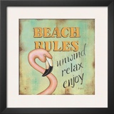 Beach Rules Prints by Kim Lewis