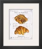 Pain au Chocolat et Croissant Poster by Ginny Joyner
